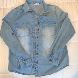Long sleeve Jean style button up shirt